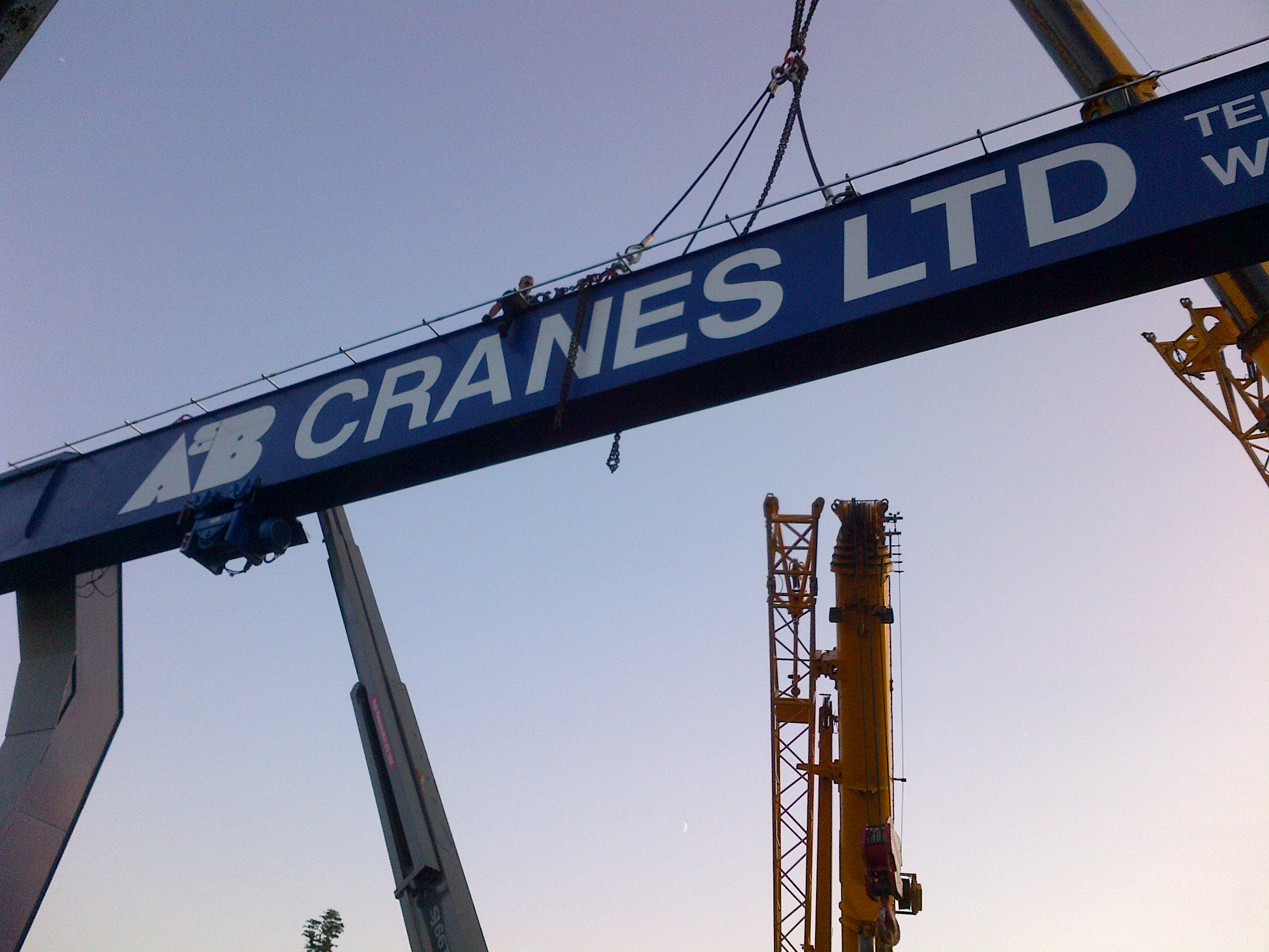 Overhead Crane 500kg : New semi goliath kg crane now installed used cranes