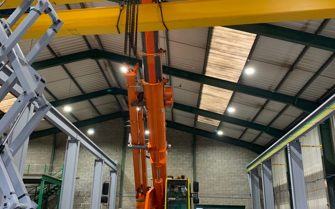 Two cranes and gantry system recently installed in Morris Singer Foundry