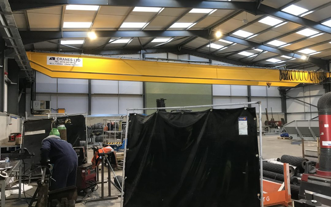 Crane instaled recently at Haith Industries Doncaster